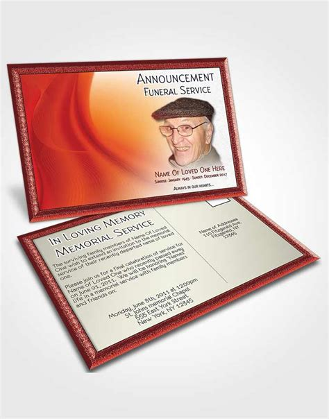 funeral announcement cards templates beautiful customizable sympathy announcement card universal 13