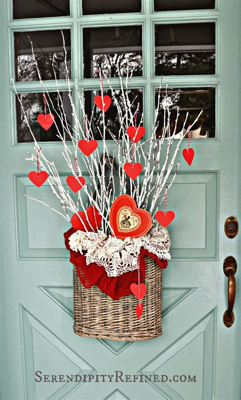 diy door decor serendipity refined blog simple diy valentines day door decor
