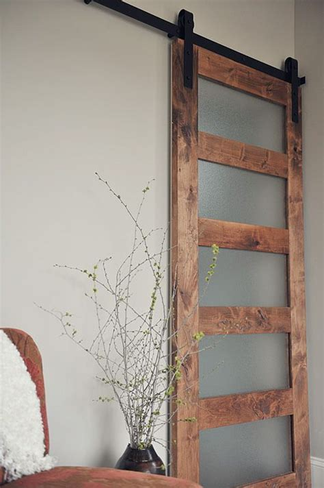 Contemporary 5 Panel Barn Door Barndoorhardware Com How To Make Glass Doors
