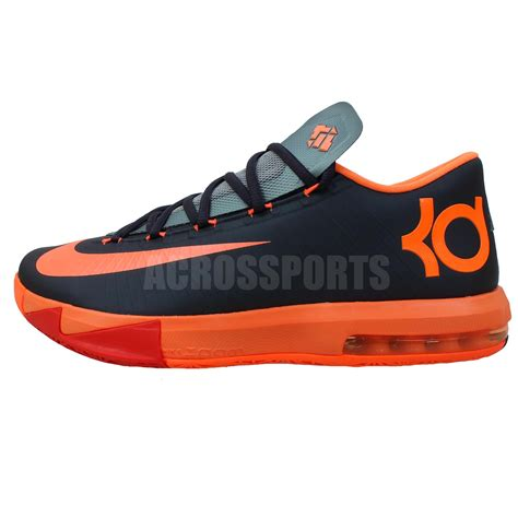 kevin durant nike basketball shoes nike kd vi 6 kevin durant black orange 2014 mens