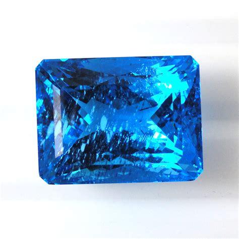 Blue Topaz 2 57 Carat swiss blue topaz emerald cut 23x17 5mm approximately 57 88