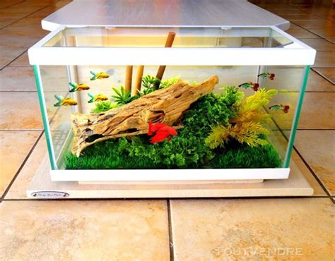 Lu Aquarium Mini fabriquer table basse aquarium maison design bahbe