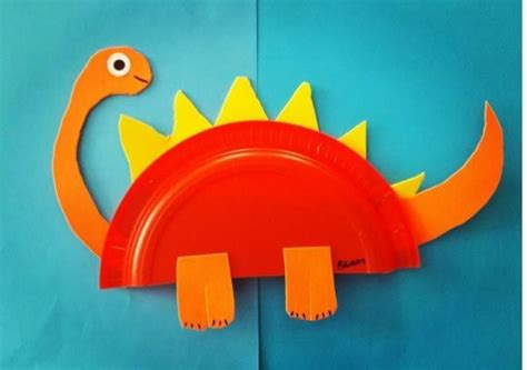 Dinosaur Paper Craft - dinosaur craft idea for crafts and worksheets for