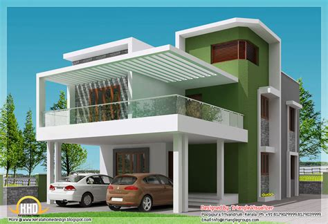 Simple Modern Home Plans | front elevation of small houses home design and decor