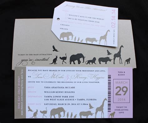Zoozoo Wedding Card Design by Wedding Invitations Zoo Chatterzoom