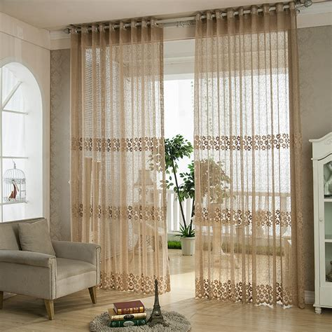 one curtain window 1 piece jacquard sheer curtain for living room tulle
