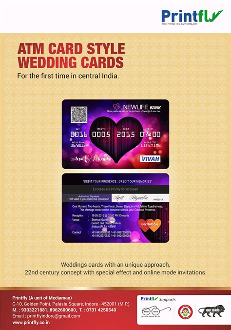 Wedding Card Like Atm atm card style wedding invitation cards