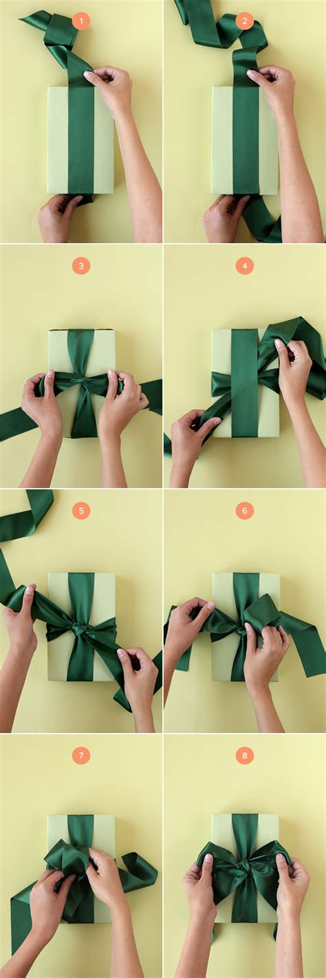 How To Make A Box Out Of Wrapping Paper - how to tie the bow julep