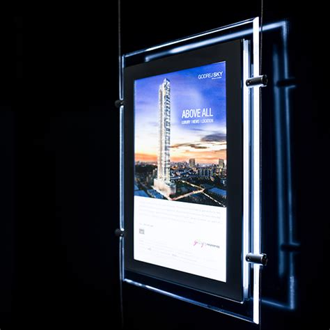 digital window videos a4 portrait led window display single side image display exhibition panels and digital