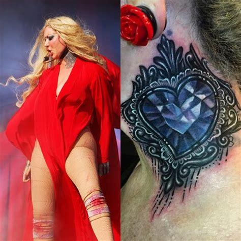 maria brink tattoos brink neck style