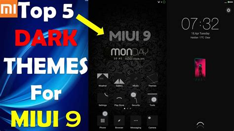 themes for mi note prime latest 5 best miui 9 dark themes dark themes for redmi