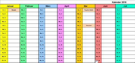 Wochen Kalender 2016 Vorlage Urlaubsplaner 2016 Kostenlos Calendar Template 2016
