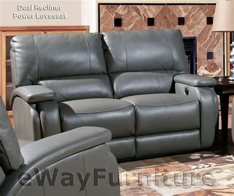 Most Durable Recliners by New Living Durable Grisham Heron Leather Dual Power