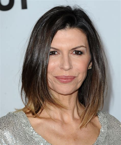 what color is ana devanes hair on general hospital finola hughes medium straight casual hairstyle dark brunette