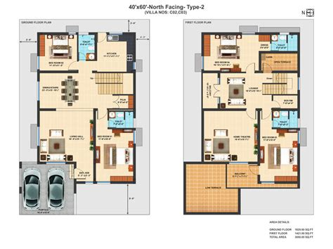 home plan design 4 bhk house plans with 40x60 feet joy studio design gallery