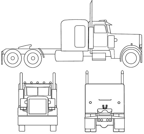 peterbilt semi truck coloring pages sketch coloring page peterbilt semi truck coloring page drawing sketch coloring