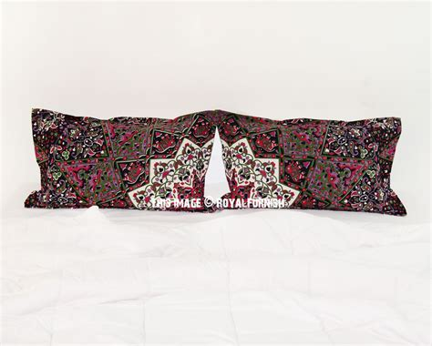 black bed pillows black green 3d boho star medallion bed pillow covers set