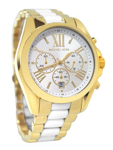 Michael Kors Mk074 Rosegold White s watches original michael kors gold and white mk 5743 chronograph brand new