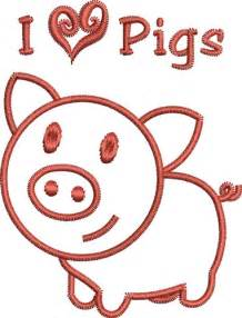 Pig Outline Embroidery Designs by Pig Outline Embroidery Designs Machine Embroidery Designs At Embroiderydesigns