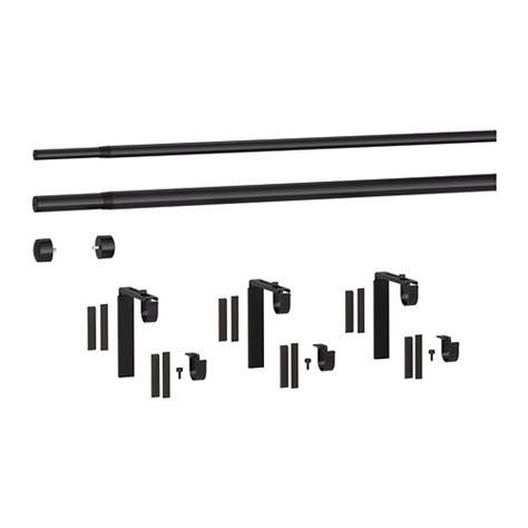 double curtain rod set ikea r 196 cka hugad double curtain rod combination black 210 385