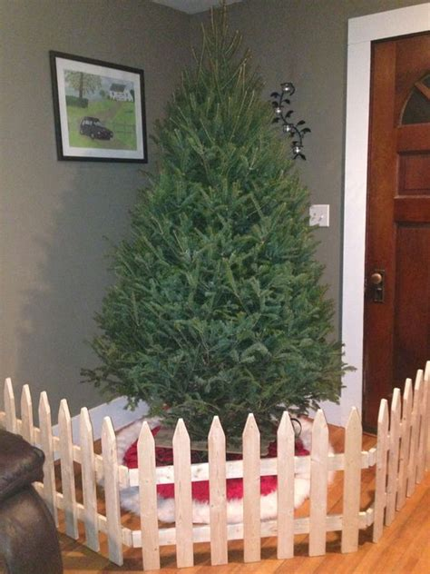 handmade fence dog proofing christmas tree saving the