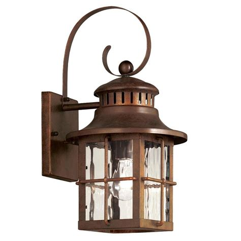 Outdoor Lighting Lowes by Portfolio Antique Verde Outdoor Wall Light Lowe S Canada