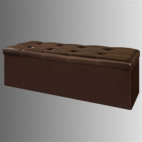 storage bench cushion seat sobuy 174 storage ottoman folding storage bench box with