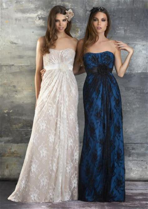 Bj 7830 Khaki Black Lace Dress Bari 650 Lace Charmeuse Bridesmaid Dress
