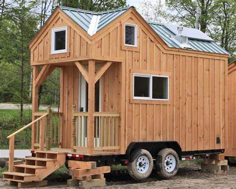 house of wheels 8x16 cross gable tiny house on a trailer