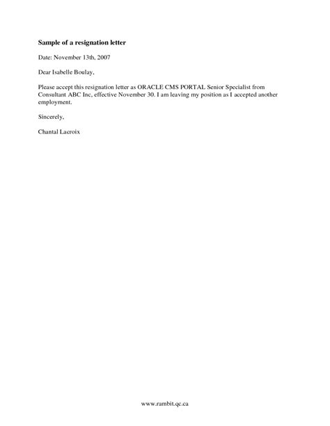 Resignation Notice Letter by Resignation Letter Gracious Resignation Letter With Notice Resignation Letter With