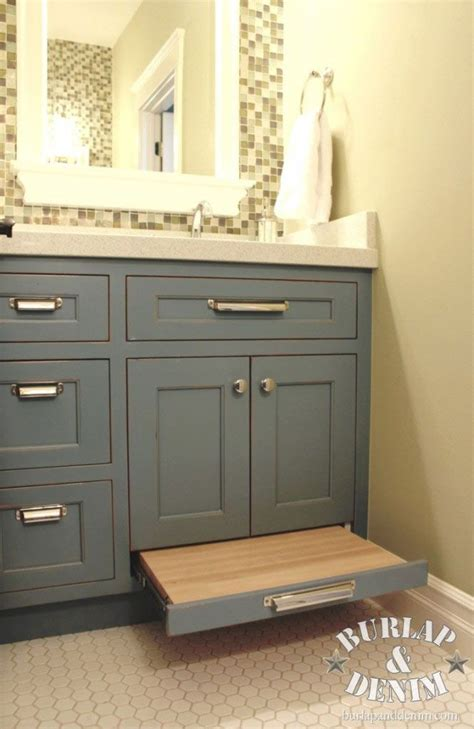 Bathroom Vanity Pulls Bathroom Vanity Storage And Pull Out Drawer Stool This Saves Space And Not To Move A Stool