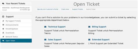 membuat web ticketing cara membuat support ticket di portal qwords com qwords