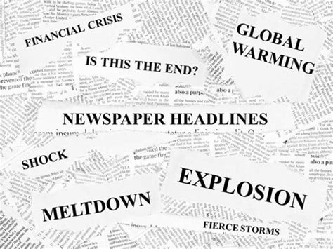 Free Newspaper Headlines Powerpoint Template Powerpoint Newspaper