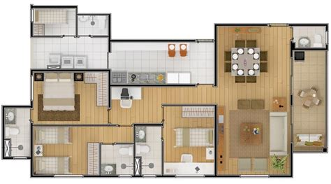 dormitorio de apartamento apartamentos and dormitorios on plano departamento 3 dormitorios