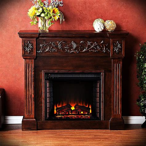 wooden electric fireplace free standing tv stand remote