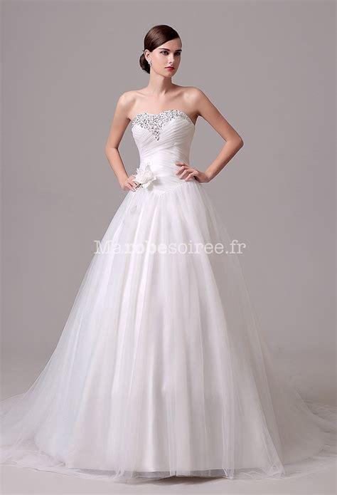 Robe De Mariée Princesse Bustier Paillette - robe de mari 233 e sobre effet princesse 233 l 233 gante
