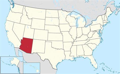 map of united states showing arizona desert food web arizona location mountian sand and rock
