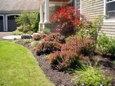 portfolio of gardens and flower bed design and
