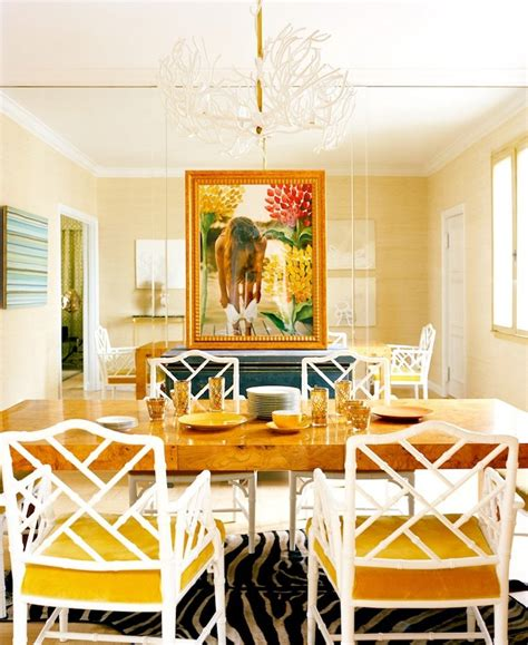 yellow dining room table marceladick