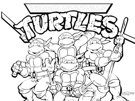 free coloring pages of tmnt sheets