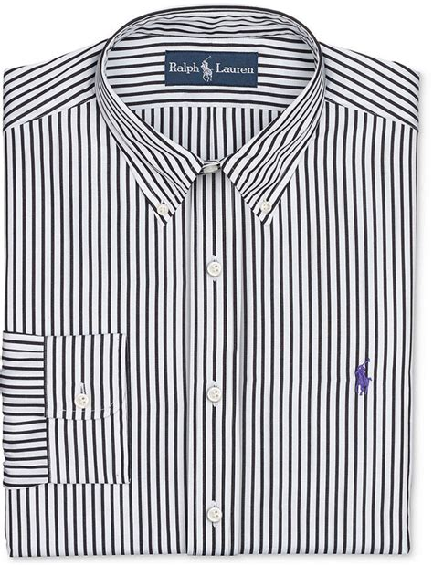 Stripi Dres Black polo ralph black and white stripe dress shirt