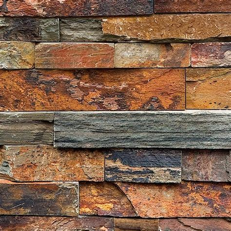 stone texture 039 stacked slate wall cladding square