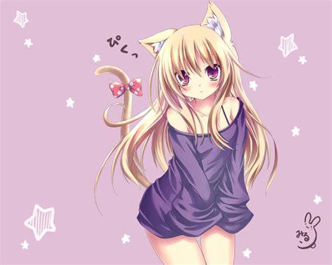 wallpaper cat girl cat girl anime girls wallpapers theanimegallery com
