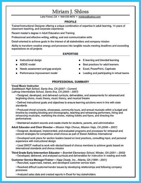 Corporate Trainer Resume by Description Corporate Trainer Description