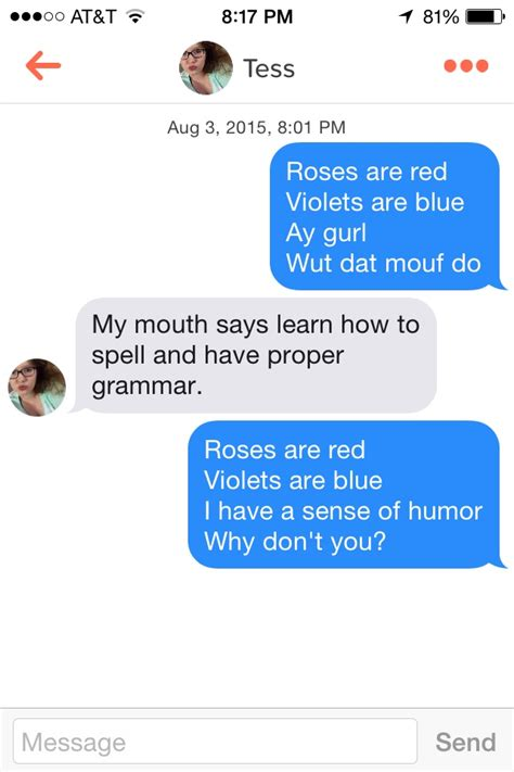 blue roses does anyone me now 11 of the most hilarious and sassy tinder conversations