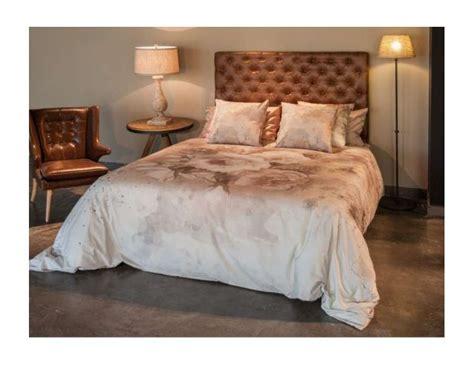 t 234 te de lit simili cuir 140 cm vintage marron