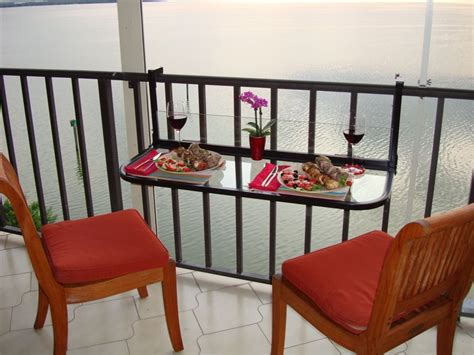 Balcony Furniture by Space Saving Table For Small Balconies Home Designing