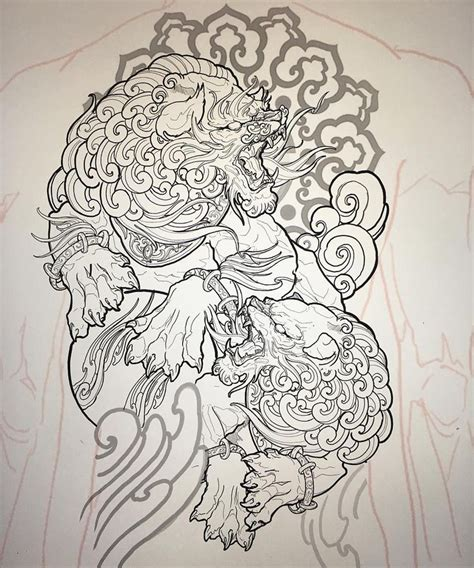 japanese foo dog tattoo designs best 25 foo ideas on foo foo