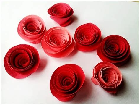 How To Make Small Roses With Paper - how to make rolled paper roses easy tutorial