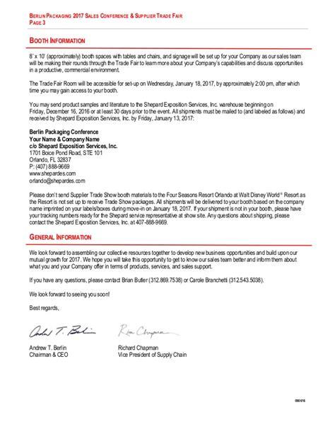 Sales Conference Invitation Letter Sle 2017 Sales Conference Detailed Invitation Letter